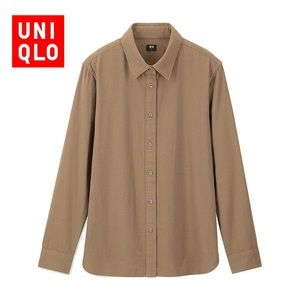 Uniqlo Long Sleeve Cotton Flannel Shirt